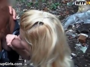 Cute blonde girl gets fucked doggy style