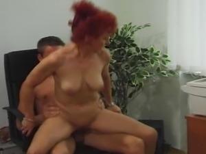 Redhead german milf gets fucked