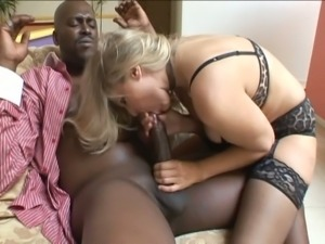 Sexy julia ann poses and takes a black dong