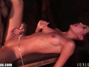 Amia Miley is caught in a dungeon with a hardcore master!
