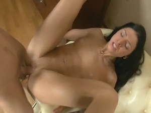 Naughty 18year old amateur is getting fucked by a big cock in her tight asshole
