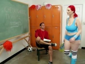 she can be a cheerleader @ big tit fantasies