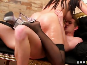 Danny D loves prettied up Eloa LombardS bottom and bangs her as hard as possible