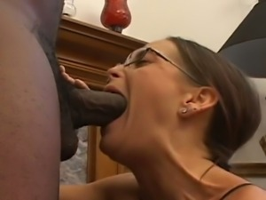 Brunette mom cheyenne sucks massive cock