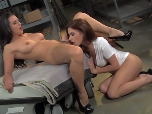 Sabrina Maree and Misty Anderson are sexy bodied ladies that have some fun...