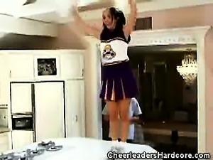 Hot Cheerleader Gives a Blowjob
