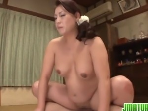 Lustful Japanese beauty Neko Ayami gets her plump body fucked
