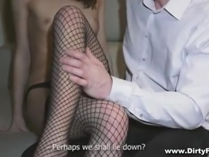 sensual slim courtesan gets paid