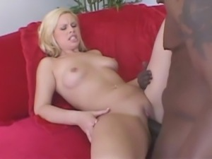 Blonde Tara Lynn Foxx with hot ideas satisfied by big black dick
