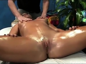 Cameron seduced and fucked hard by her massage therapist