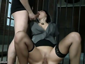 Aletta Ocean blows the sticky nectar out of schlong
