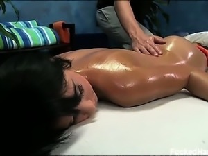Mandy seduced and fucked hard by her massage therapist