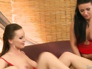 Silvia Saint and Tea show their love for bush in lesbian action