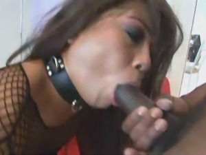 Super hardcore full interracial threesome action