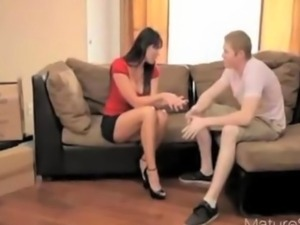 SuperMilf Teen and Boy 06 From MatureSide