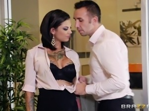 guy fucks his sexy colleague at work