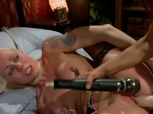 Kinky blonde got her pussy punished