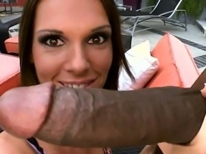 Luscious whore Jennifer Dark banged by big black dick