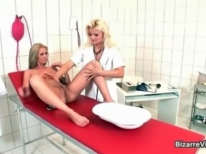 Horny nurse stuffing her patient box part3.