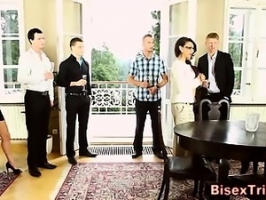 Bisexual cock sucking orgy