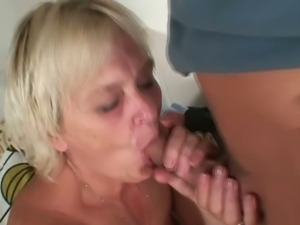 Drunk blonde granny fucked hard by her son in law.