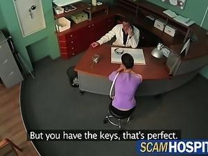 Hot brunette lady wants the doctors cock