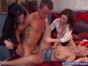 Emily Austin fucked during CFNM group funn with Veronica Avluv and Veruca James