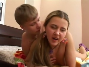 Amateur russian drilled hard
