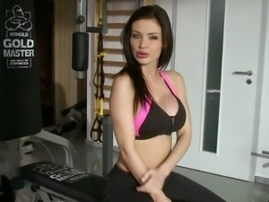 Hot sluts suck and get fucked at the gym