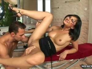She likes feeling his big muscular dick inside her sweet and tight mature...