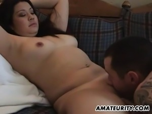 A hot amateur Asian girlfriend homemade hardcore suck and fuck action with...