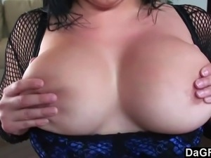 This hot slut is named Sonya Sage and you can tell with all the fishnets she...