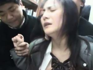 Young Schoolgirl groped in Library