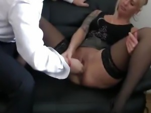 Bossy bitch fist fucked till she squirts