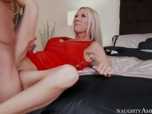 Emma Starr is his good looking mature woman with slim figure and really tight...