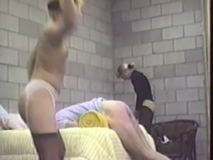 Two Females Punish Man with Strap and Strap-On