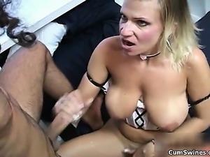 Nasty blonde slut gets horny part5