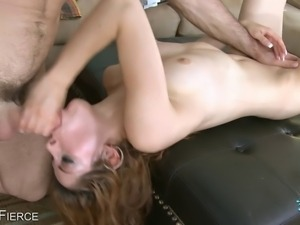 Young Latina gets her shaved pussy slammed by a thick cock
