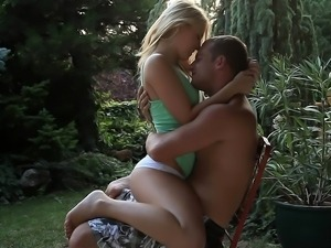 Young Leony April in romantic sex