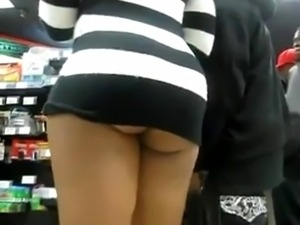 Ass Already Hanging Out, But Still Upskirt