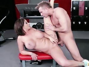 Latina Eva Notty with juicy knockers feels great with Bill Baileys boner in...