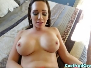 Bigtitted Destiny Dixon in lingerie pov drilled