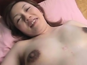 Hairy asian preggo  pussy stimulated