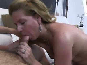 Cougar helped her stepson get off his goos