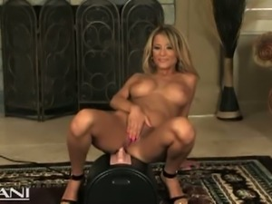 Jodi gets wet with the sybian