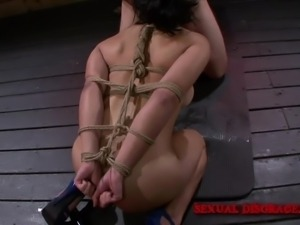 tied up asian slut gets violated