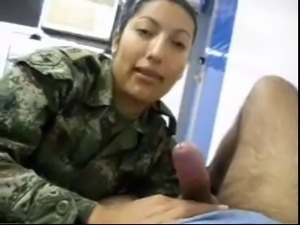 Military girl suck cock