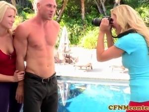 CFNM femdom Cherie Devilles outdoor fuck