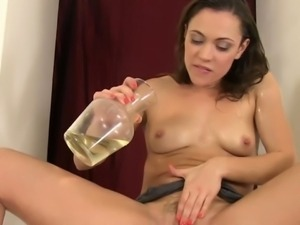 Pissing babe wet herself is having a golden shower