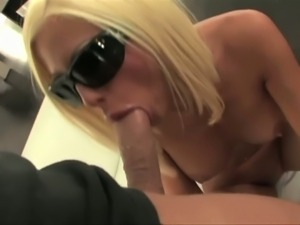 Hot blonde Krystal Steal rides her man's cock
